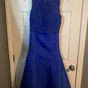 Dresses & Skirts - blue formal dress two piece